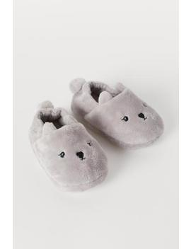 Appliquéd Slippers by H&M