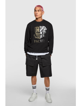 Sweatshirt With Contrast Embroidery View All Sweatshirts Man by Zara