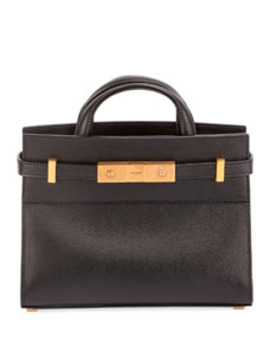 Manhattan Belted Leather Tote Bag by Saint Laurent