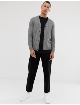 Asos Design Tall Cardigan In Black Cotton by Asos Design