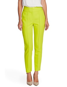 Center Seam Stretch Crepe Skinny Trousers by Vince Camuto