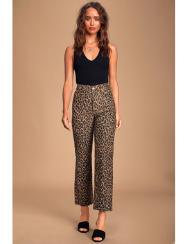 Ribcage Leopard Print Corduroy Jeans by Levi's