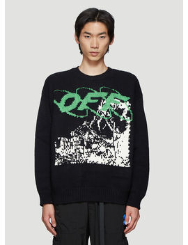 Ruined Factory Knitted Sweater In Black by Off White