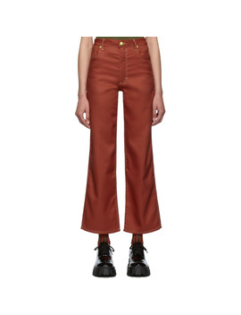 Red Wide Leg Jeans by Eckhaus Latta