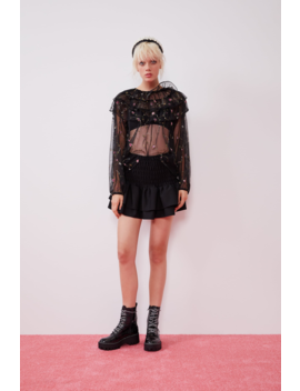 Frilled Mini Skirt Collection Rockstar Attitude Trf by Zara