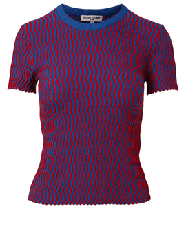 Squiggle Short Sleeve Sweater by Holt Renfrew