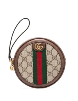 Gg Supreme Round Clutch Bag by Gucci