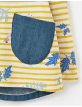Ria Jersey Woven Mix Top 1 6 Years by Joules