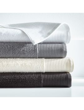Waffle Terry Organic Bath Towels by Crate&Barrel