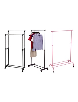 One Or Two Single Or Double Garment Racks by Groupon
