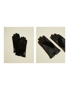 Suede And Leather Glove by Ted Baker
