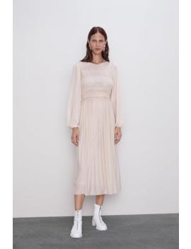 Flowy Elasticized Dress View All Dresses Woman by Zara