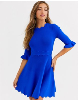 Ted Baker Lauron Knitted Skater Dress by Ted Baker