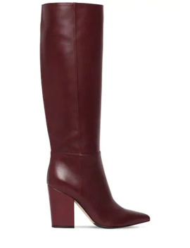 90 Mm Sergio Tall Leather Boots by Sergio Rossi
