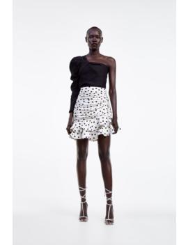 Asymmetric Top Sequinswoman by Zara