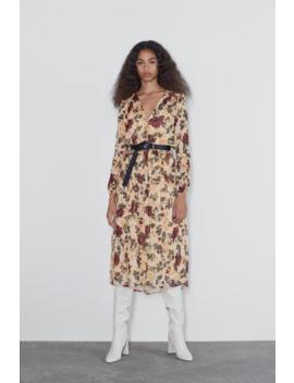 Printed Midi Dress New Inwoman by Zara