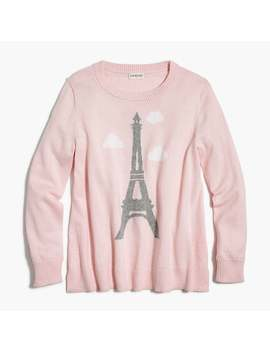 Girls' Sparkly Eiffel Tower Sweater by J.Crew