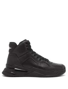 B Ball High Top Leather Trainers by Balmain