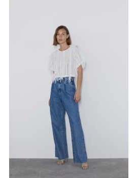 Top With Tulle Fringing  Topswoman by Zara