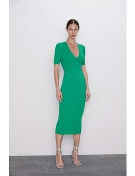 Ribbed Shift Dress View All Knitwear Woman by Zara