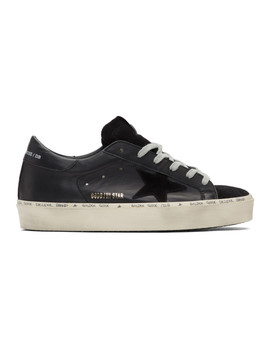 Black Hi Star Sneakers by Golden Goose