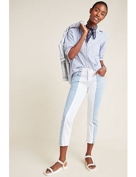 Levi's 501 High Rise Colorblocked Skinny Jeans by Levi's