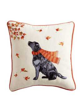 Lab In Leaves Pillow by Pier1 Imports