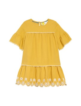 Drop Waist Embroidered Dress by Mini Boden