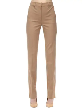 Straight Leg Virgin Wool Blend Pants by Sportmax