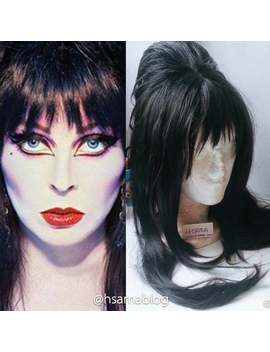 Wig Elvira The Mistress Of The Dark by Etsy