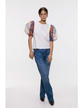 Organza Sleeve Top View All T Shirts Woman by Zara