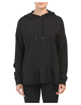 Ruffle Hem Hooded Sweatshirt by Tj Maxx