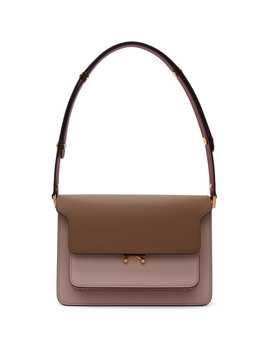 Pink & Brown Trunk Bag by Marni