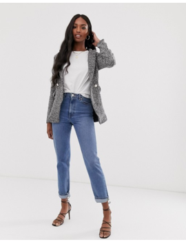 Parisian Tall – Lang Geschnittener Tweed Blazer by Asos