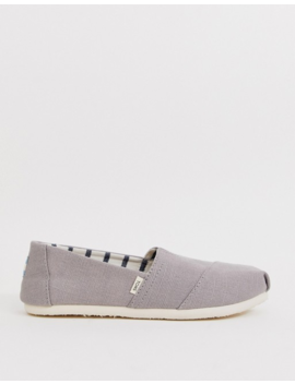 Toms Alpargata Flat Slip On Shoes In Grey by Toms