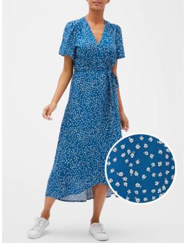 Print Wrap Dress by Gap