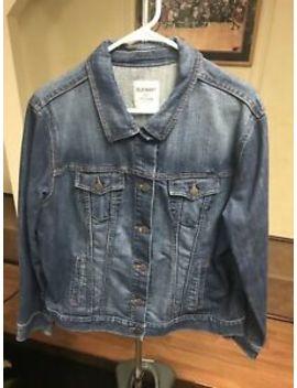 Old Navy Womens Size Xxl Dark Wash Denim Jean Jacket Button Down Long Sleeve by Old Navy