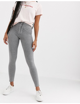 Pull&Bear Tie Waist Slim Joggers In Grey by Pull&Bear