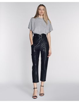 Wayne Leather Pant In Black by Marissa Webb