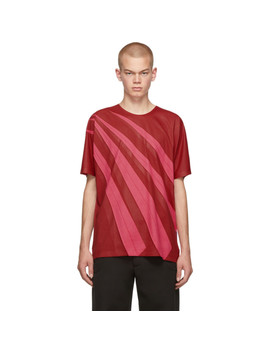Red Wrinkle T Shirt by Issey Miyake Men
