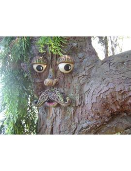 Tree Face Garden Decorations, Great Gifts For All, Outdoor Sculptures, Statues Ornaments. Garden Decorations Yard Art, Funny Faces On Trees. by Etsy