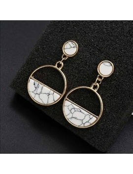 White Gold Marble Earrings NwtBoutique by Poshmark