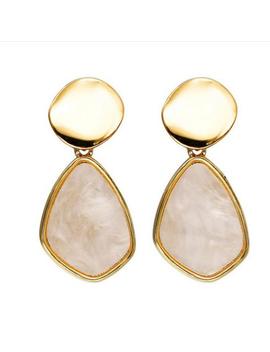 Roman's Garden  Golden Marble EarringsBoutique by Chicks Desire