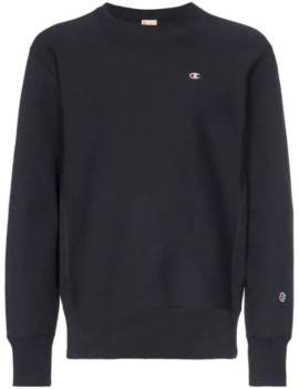 Pullover Mit Logo Stickerei by Champion