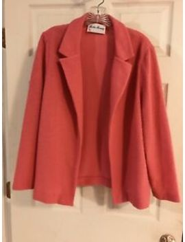 Women's Textured Blazer Size 16/18 Coral Color by Unbranded