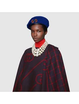 Wool Cape Coat With InterlockingG by Gucci