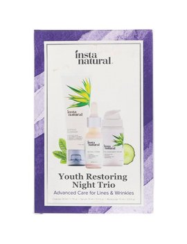 Insta Natural, Youth Restoring Night Trio, Advanced Care For Lines & Wrinkles, 3 Piece Kit by Insta Natural