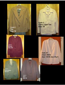 Women's Blazer Jacket Coat Choice Of Colors Size 16 18 20 40 by Various See Description