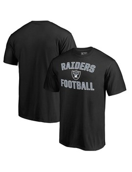 Oakland Raiders Nfl Pro Line By Fanatics Branded Big & Tall Team Victory Arch T Shirt   Black by Nfl Pro Line By Fanatics Branded
