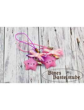 Kawaii Star Dangler Pink Bow | Lucky Star | Kawaii Dangler | Kawaii Planner Charm | Phone Strap Charm | Polymer Clay Dangler | Gift For Her by Etsy